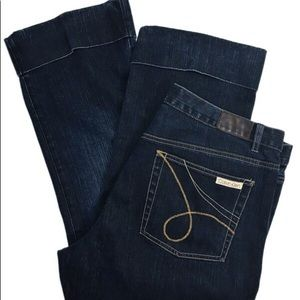 Calvin Klein cropped blue jeans size 16 capris